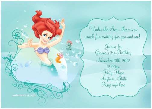Little Mermaid Party Invitations Little Mermaid Party Invitations