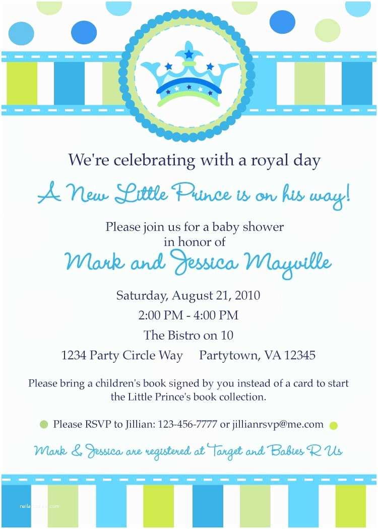 Little Prince Baby Shower Invitations Little Prince Baby Shower Invitation Digital by Inkberrycards