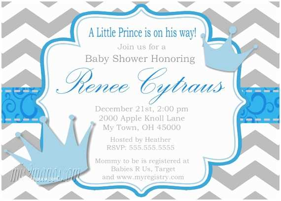 Little Prince Baby Shower Invitations Little Prince Baby Shower Invitation Digital File Baby Shower