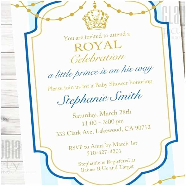 Little Prince Baby Shower Invitations Little Prince Baby Shower Invitation Prince 1st Birthday