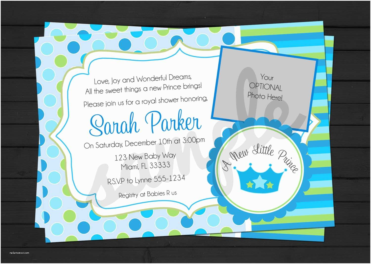 Little Prince Baby Shower Invitations Little Prince Baby Shower Invitations
