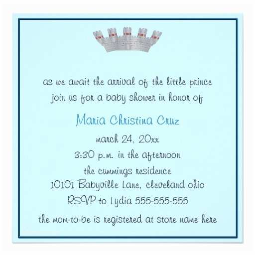 Little Prince Baby Shower Invitations Our Little Prince Baby Shower Invitation Blue 13 Cm X 13