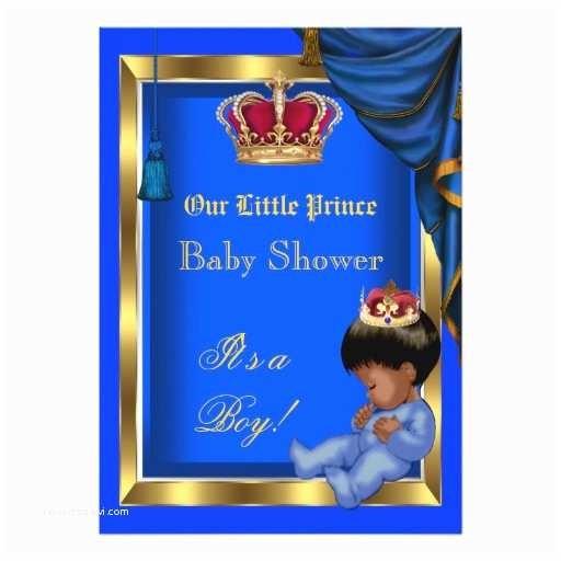 Little Prince Baby Shower Invitations Personalized Boy