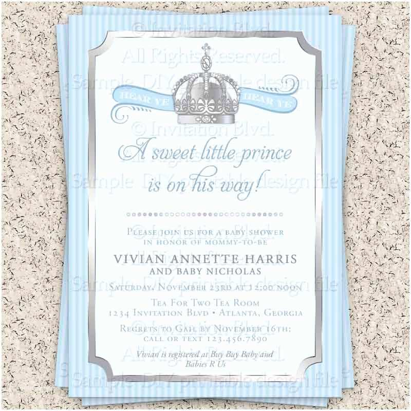 Little Prince Baby Shower Invitations Prince Baby Shower Invitation Little Prince by Invitationblvd