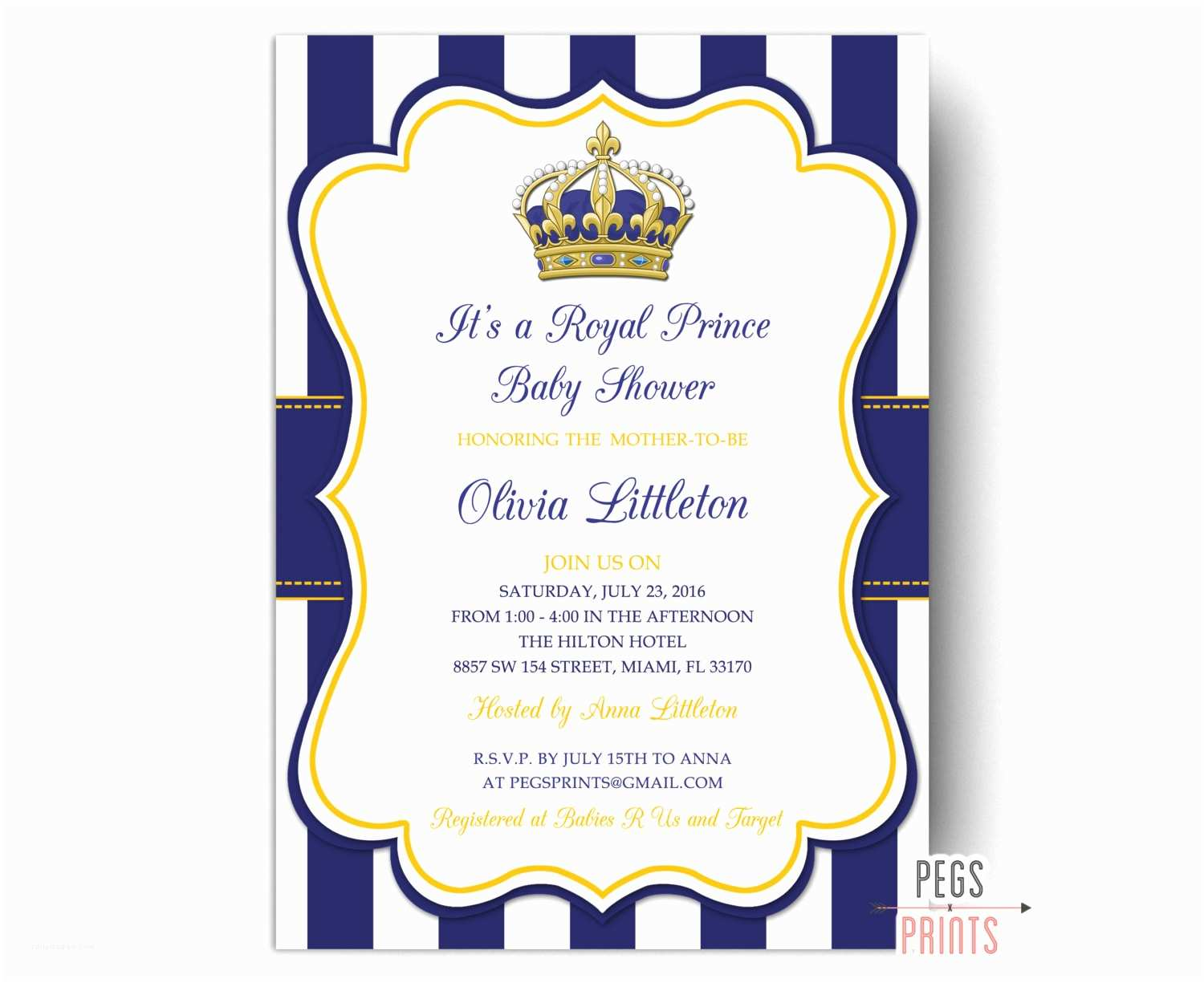 Little Prince Baby Shower Invitations Royal Prince Baby Shower Invitations Little Prince Baby