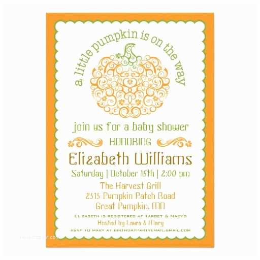 Little Pumpkin Baby Shower Invitations 407 Pumpkin Baby Shower Invitations Pumpkin Baby Shower