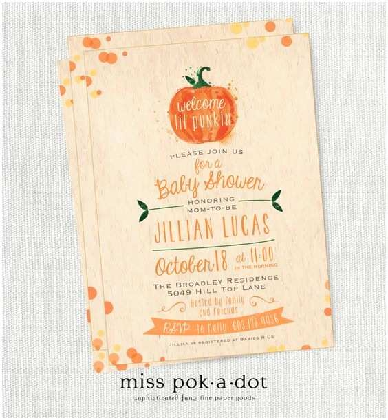 Little Pumpkin Baby Shower Invitations Lil Pumpkin Fall Baby Shower Invitation Little Pumpkin