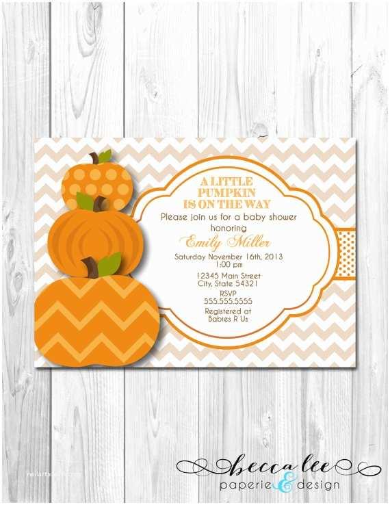 Little Pumpkin Baby Shower Invitations Little Pumpkin Baby Shower Invitation Diy by Beccaleepaperie