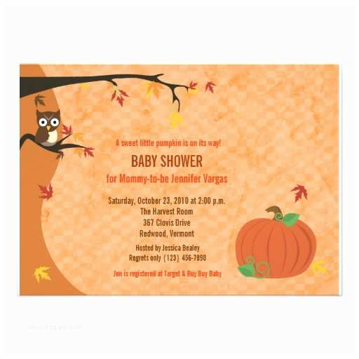 Little Pumpkin Baby Shower Invitations Little Pumpkin Fall Autumn Baby Shower Invitation