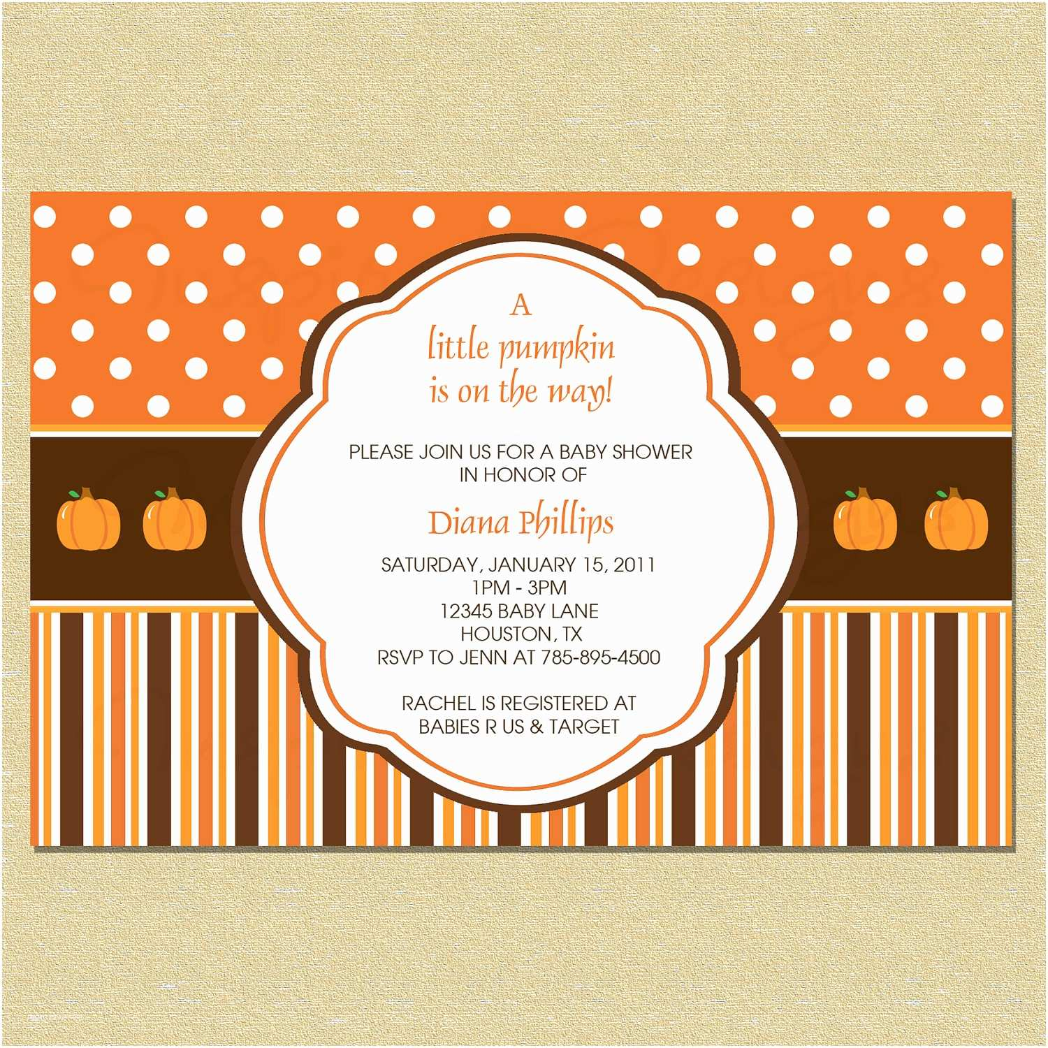 Little Pumpkin Baby Shower Invitations Unavailable Listing On Etsy