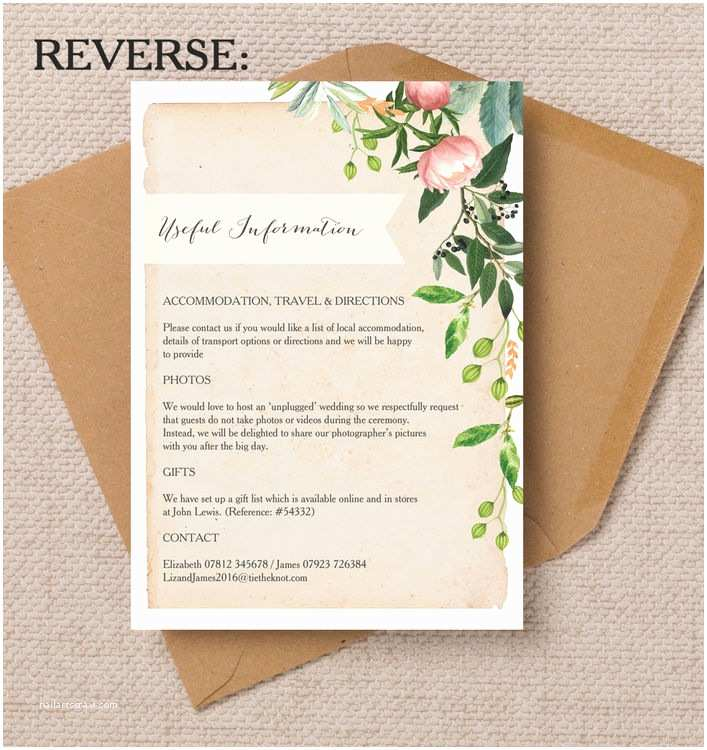 Local Wedding Invitations Flora Wreath Wedding Invitation From £1 00 Each