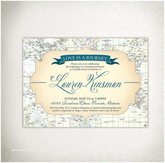 Local Wedding Invitations Love is A Journey This Listing is for A Diy