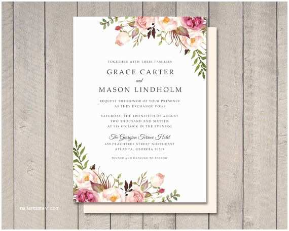 Local Wedding Invitations This Listing Includes E or Two Sided Wedding Invitation