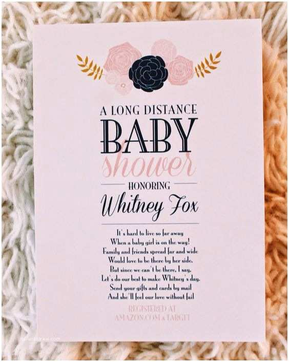 Long Distance Baby Shower Invitations Custom Long Distance Baby Shower Invitations