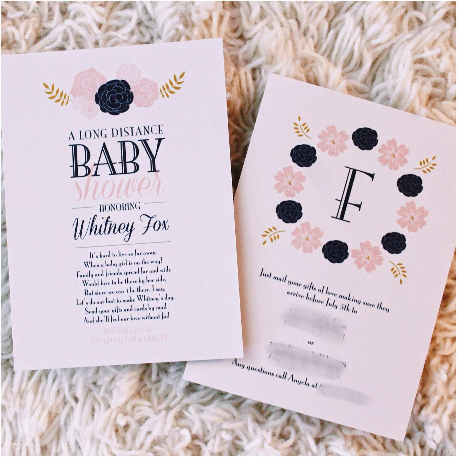 Long Distance Baby Shower Invitations Life as A Fox Long Distance Baby Shower