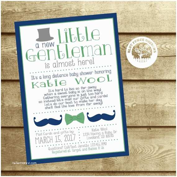 Long Distance Baby Shower Invitations Long Distance Baby Shower Invitation Baby Shower by Mail