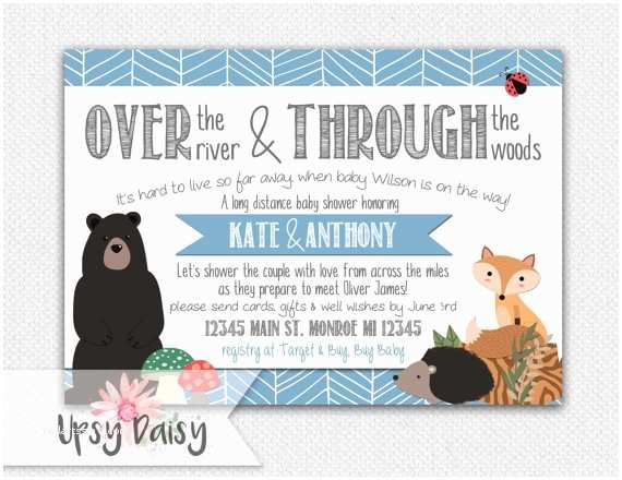 Long Distance Baby Shower Invitations Long Distance Baby Shower Invitation Boys by