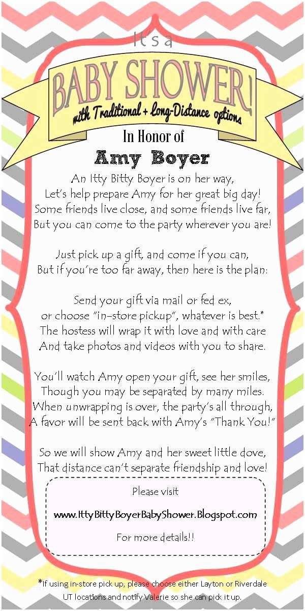 Long Distance Baby Shower Invitations Long Distance Baby Shower Invitation I Wrote This Cute