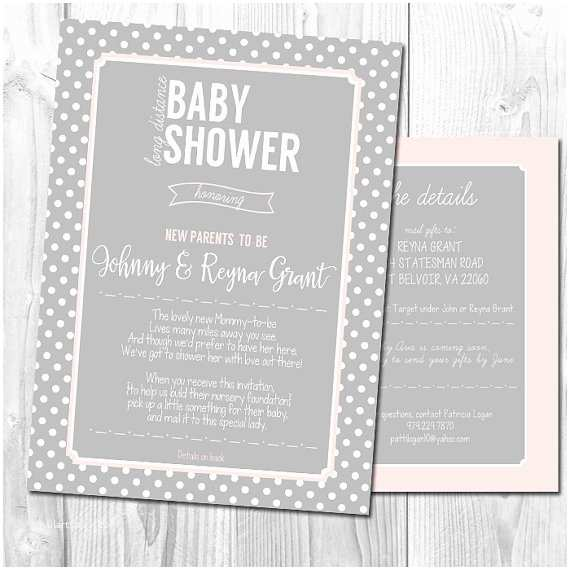 Long Distance Baby Shower Invitations Long Distance Baby Shower Invitation