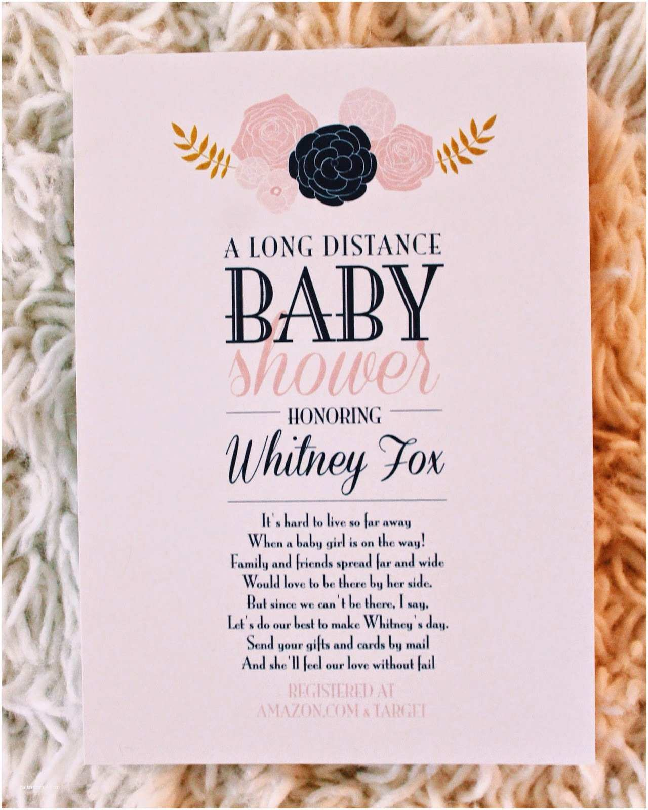 Long Distance Baby Shower Invitations Long Distance Baby Shower Invitation Wording – Gangcraft