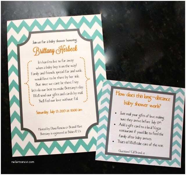 Long Distance Baby Shower Invitations Long Distance Baby Shower Invitations