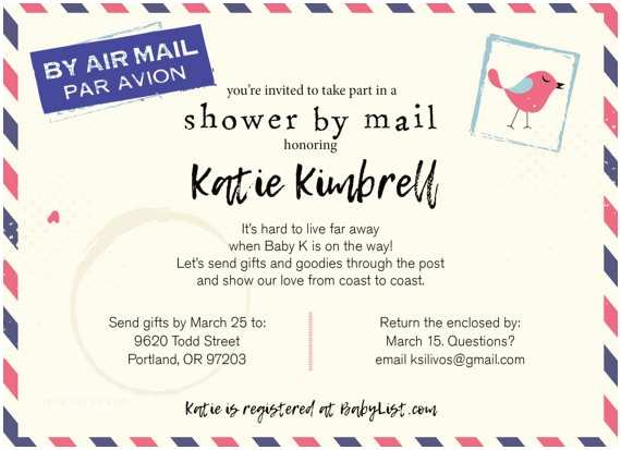 Long Distance Baby Shower Invitations Long Distance Baby Shower Shower by Mail