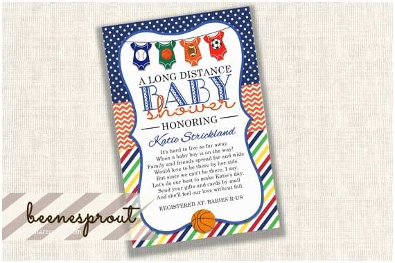 Long Distance Baby Shower S Sports Long Distance Baby Shower