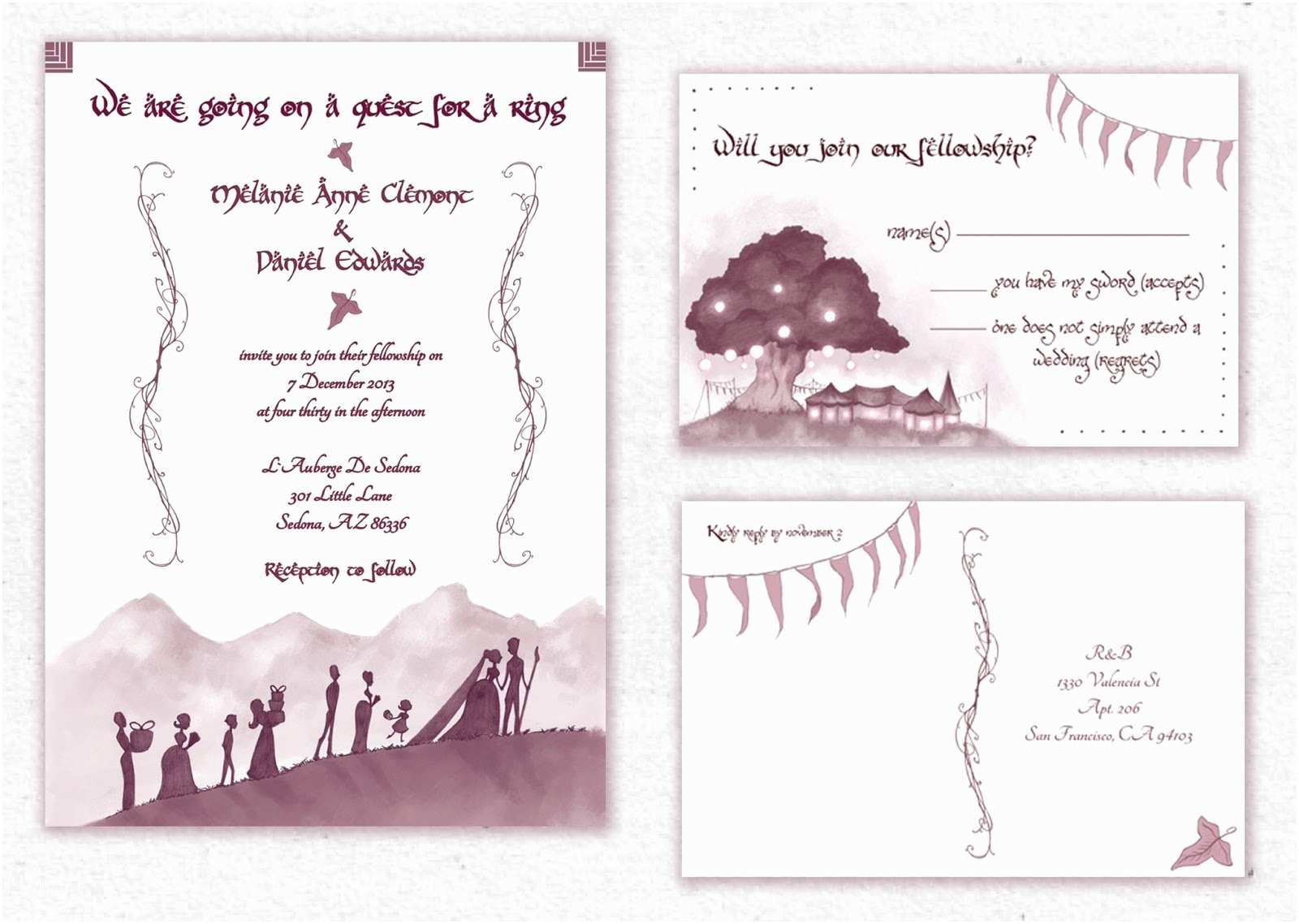 Lord Of the Rings Wedding Invitations Awkward Affections A Sneak Peek Help Us Geeky Love You