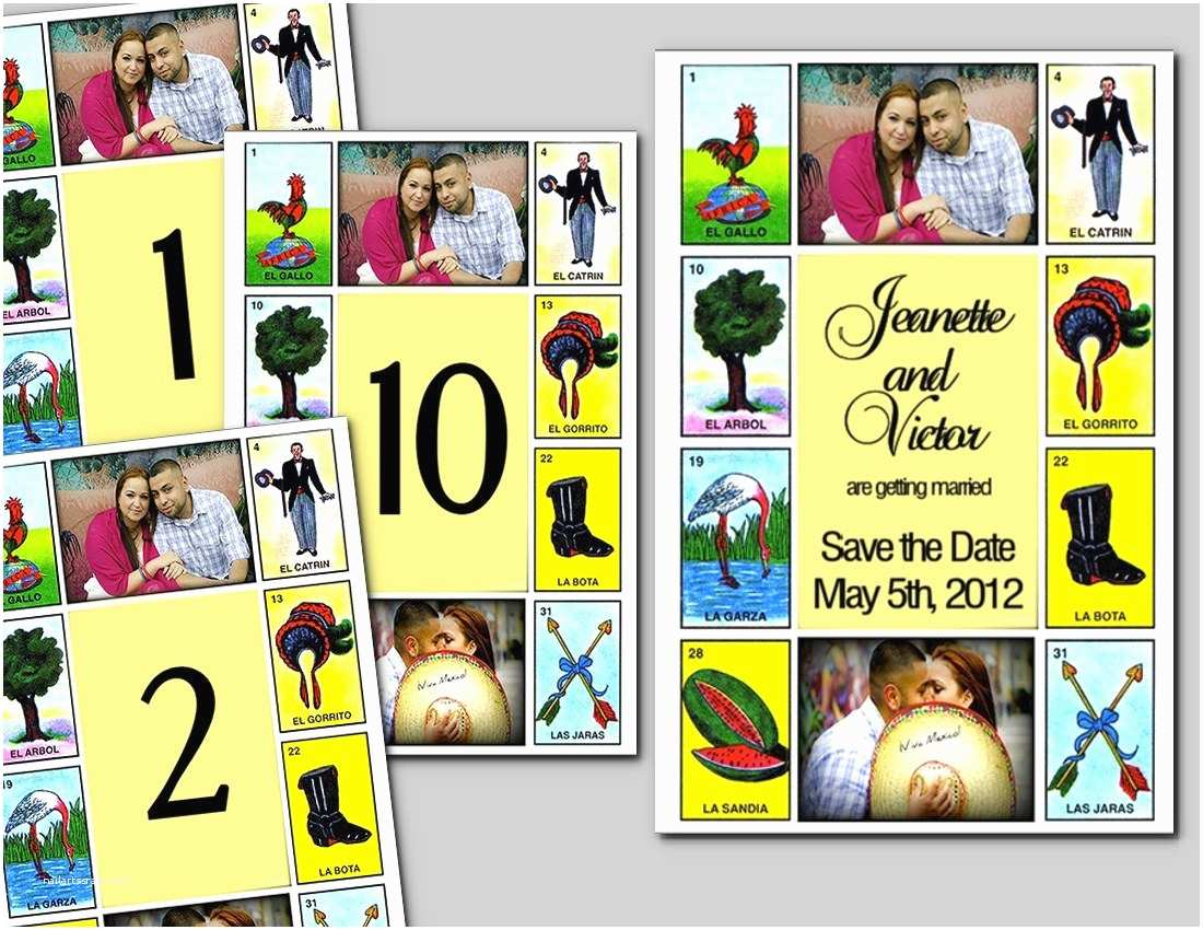 Loteria Wedding Invitations Cinco De Mayo Mexican Wedding Lots Of