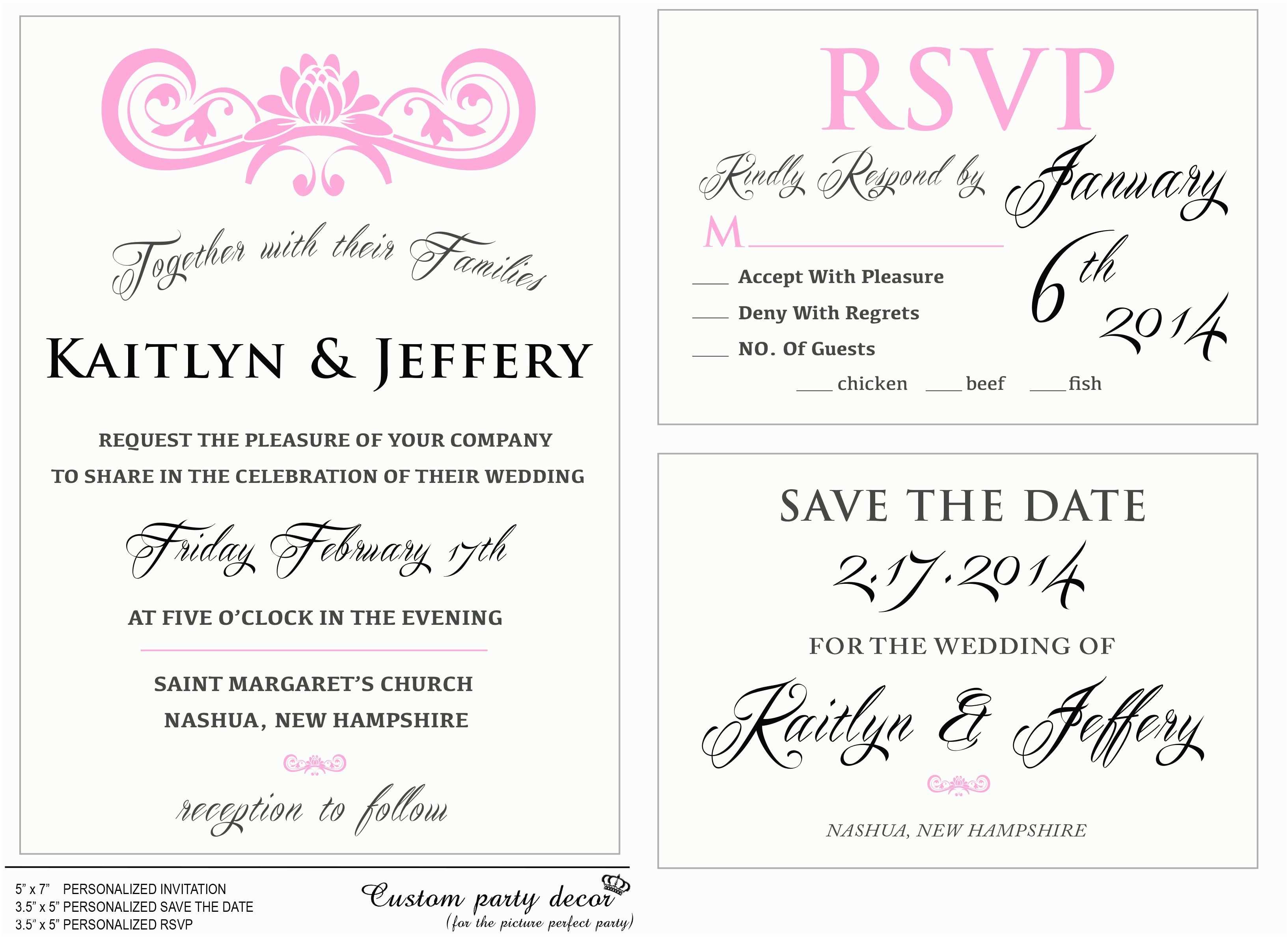 Lotus Wedding Invitations Classic Wedding