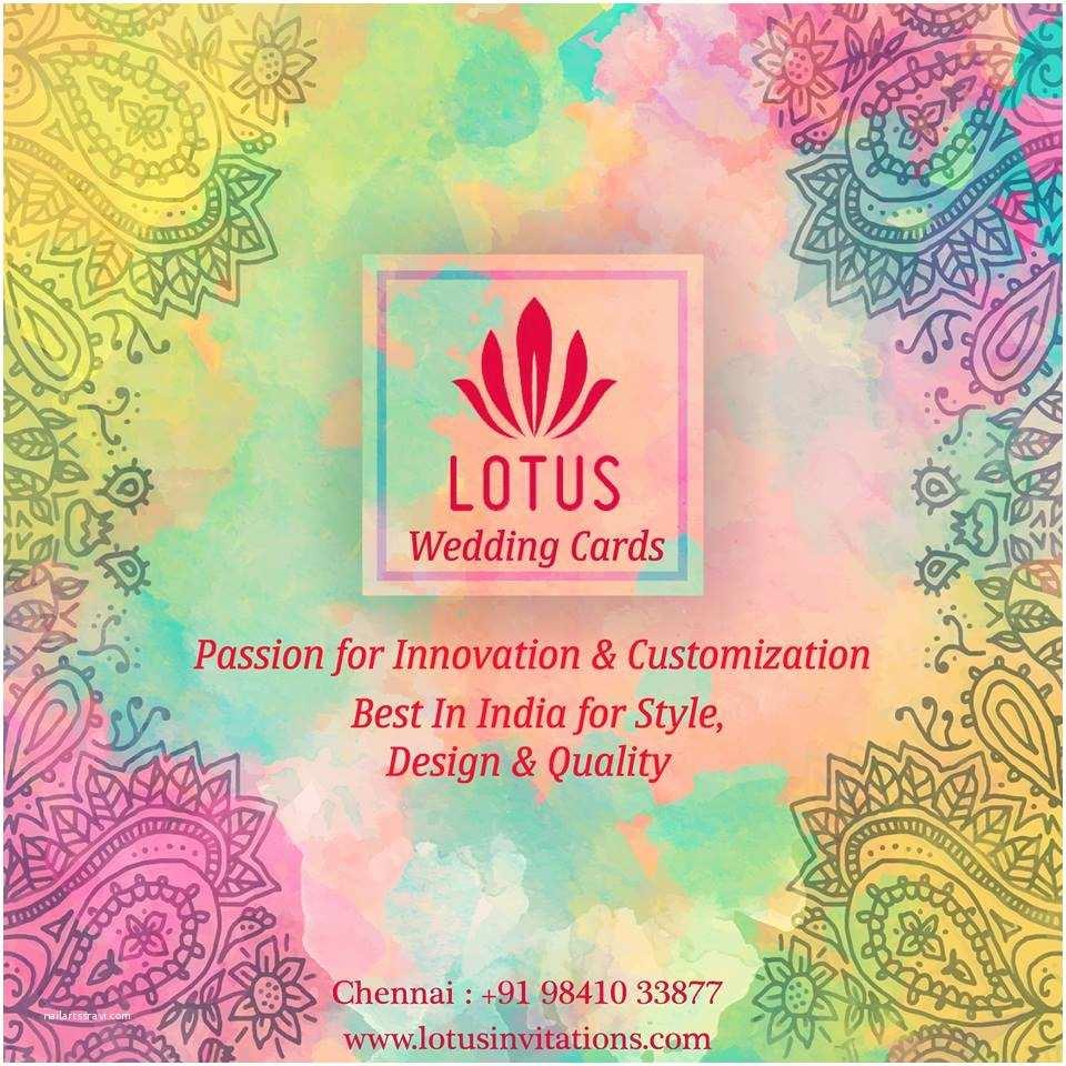 Lotus Wedding Invitations Lotus Cards Wedding Invitations Chennai Indian Wedding