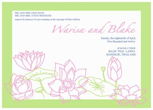 Lotus Wedding Invitations Wedding Invitations Lotus Wedding Card at Minted
