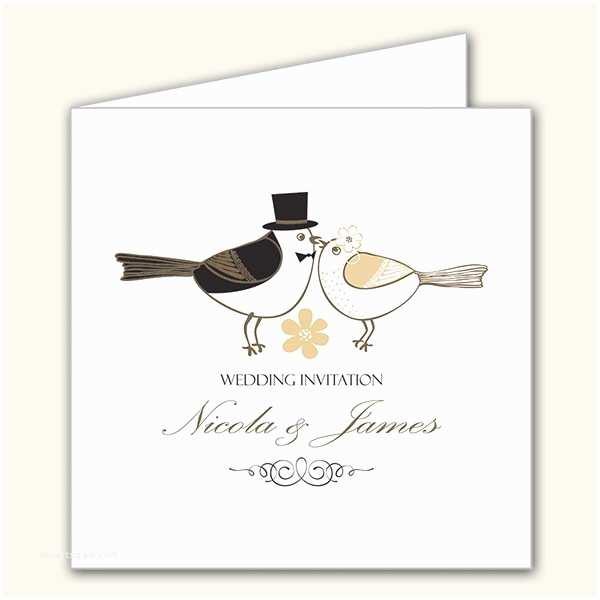 Love Bird Wedding Invitations Bride & Groom Love Birds Wedding Invitations