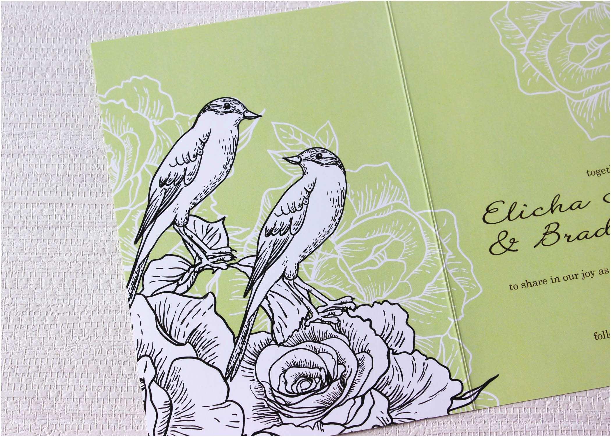 Love Bird Wedding Invitations Love Birds Romantic Wedding Invitations Be My Guest
