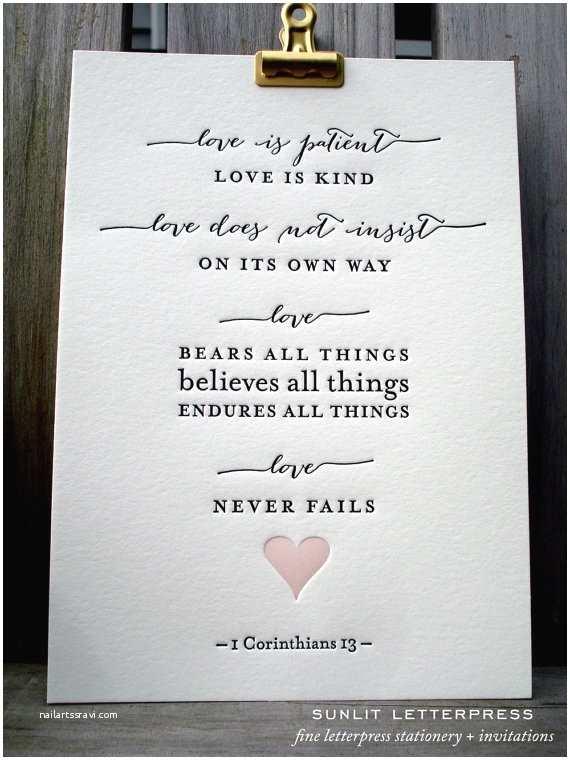 Love is Patient Love is Kind Wedding Invitations Bible Verse Print Love is Patient 1 Corinthians 13