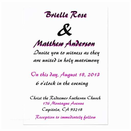 """Love is Patient Love is Kind Wedding Invitations Love is Patient Wedding Invitation 5"""" X 7"""" Invitation Card"""