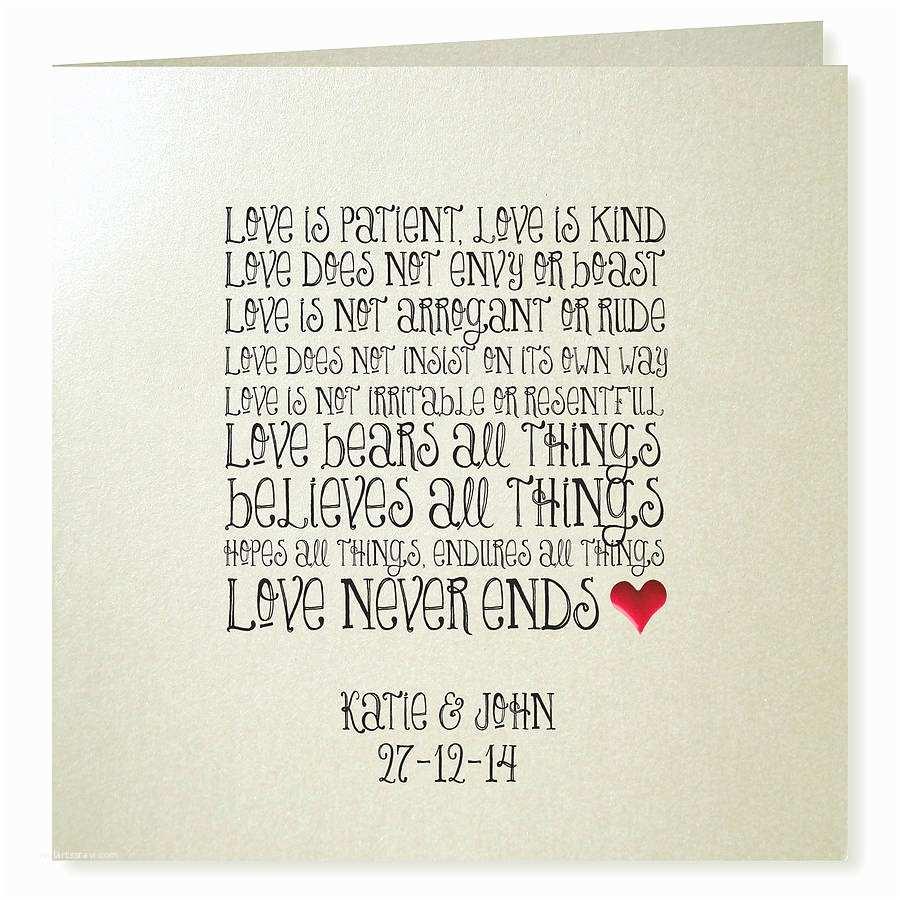 Love is Patient Love is Kind Wedding Invitations Love is Patient Wedding Invitations by Apple Of My Eye