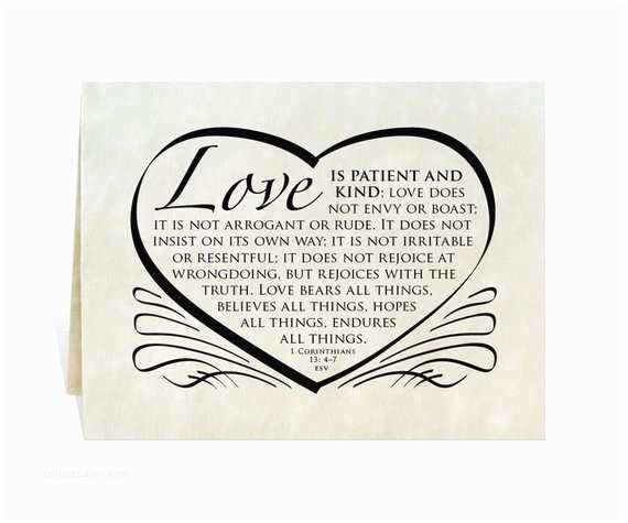 Love is Patient Love is Kind Wedding Invitations Wedding Card Program Invitation Love is Patient and Kind