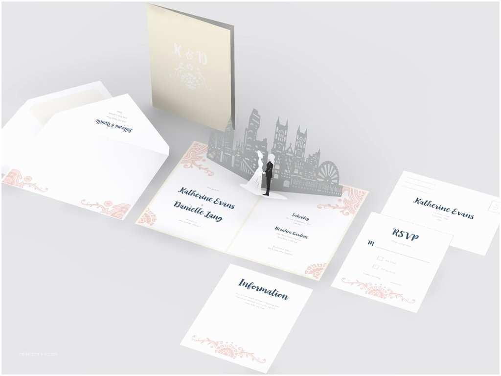Love Pop Wedding Invitations London Skyline Wedding Invitation Lovepop