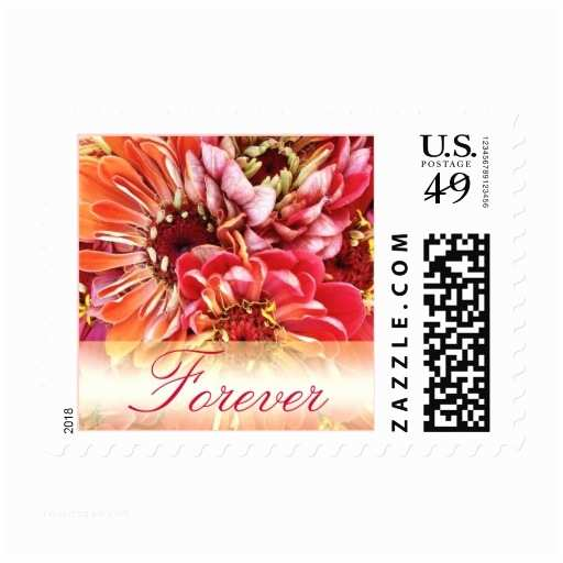 Love Stamps for Wedding Invitations Colorful forever Love Wedding Invitation Stamps