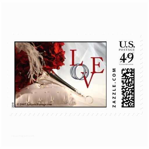 Love Stamps for Wedding Invitations Love Wedding Invitation Postage Stamp