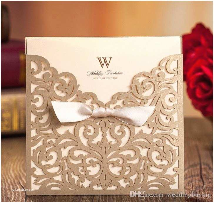 Low Price Wedding Invitation Cards Gold Wedding Invitations Custom Invitations Romantic