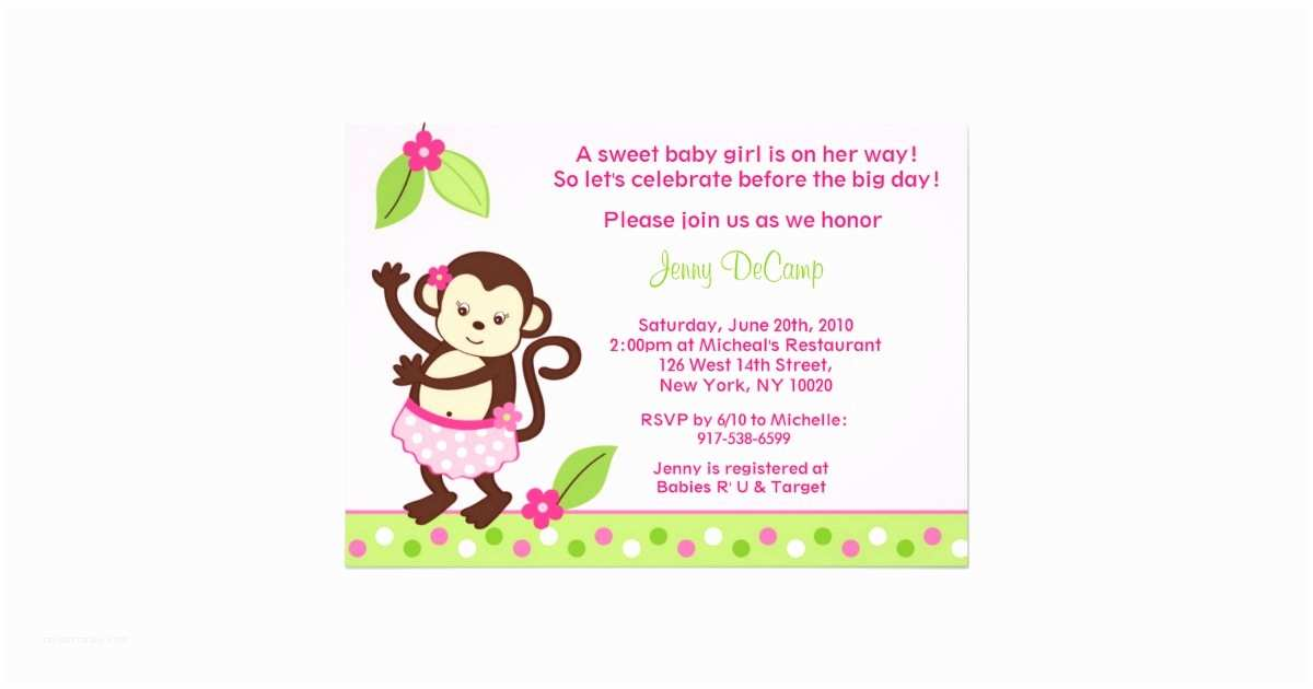 Luau Baby Shower Invitations Hula Monkey Luau Custom Baby Shower Invitations