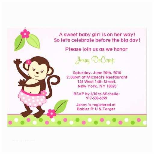 Luau Baby Shower Invitations Hula Monkey Luau Custom Baby Shower Invitations