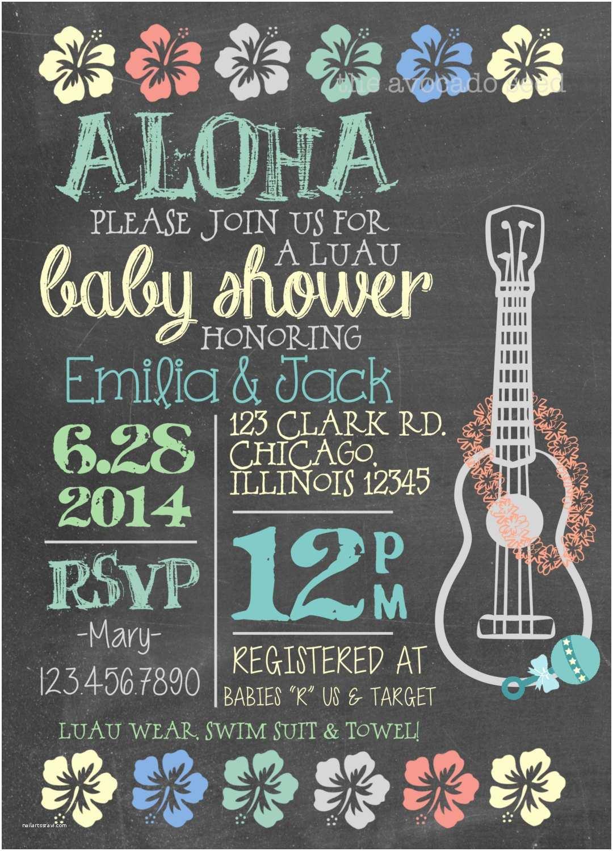 Luau Baby Shower Invitations Luau Baby Shower Invitation Diy or Professionally Printed