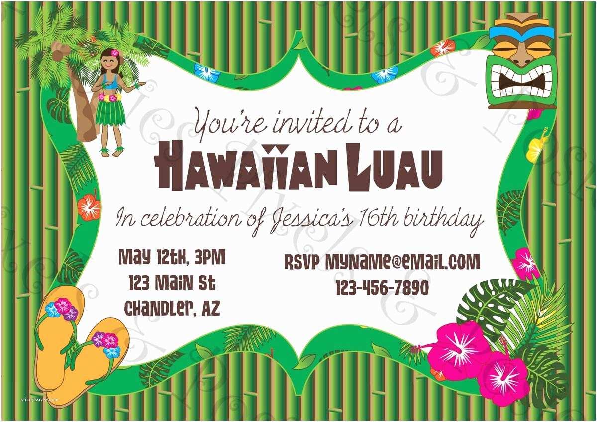 Luau Birthday Invitations Printable Invitation Clipart Suggest