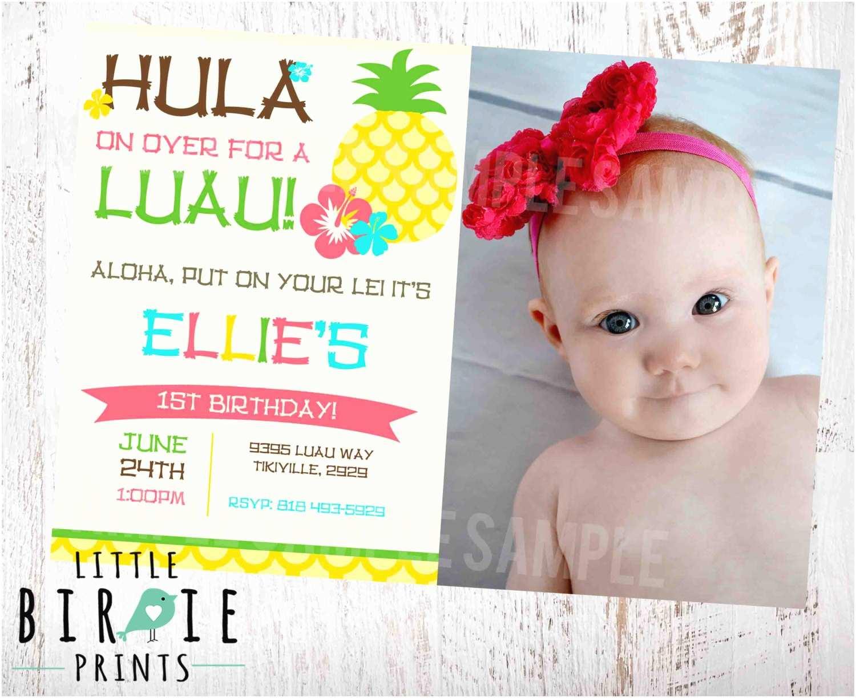 Luau Birthday Party Invitations Luau Birthday Party Invitation Pineapple by Littlebir Prints