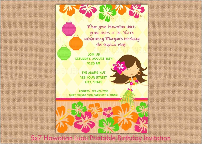 Luau Birthday Party Invitations Clip Art