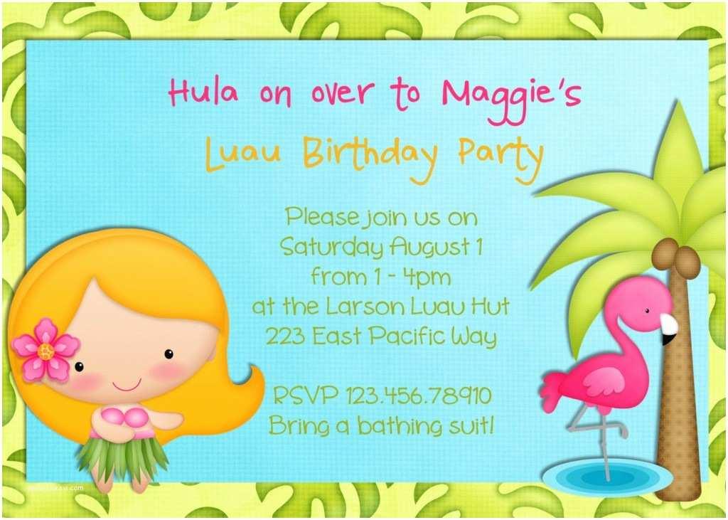 Luau Birthday Party Invitations Luau Party Invitations Wording Party Xyz
