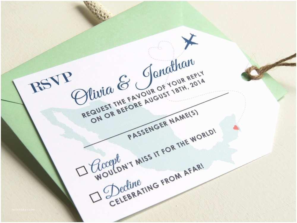 Luggage Tag Wedding Invitations 58 Luxury Rsvp for Destination Wedding Wedding Idea